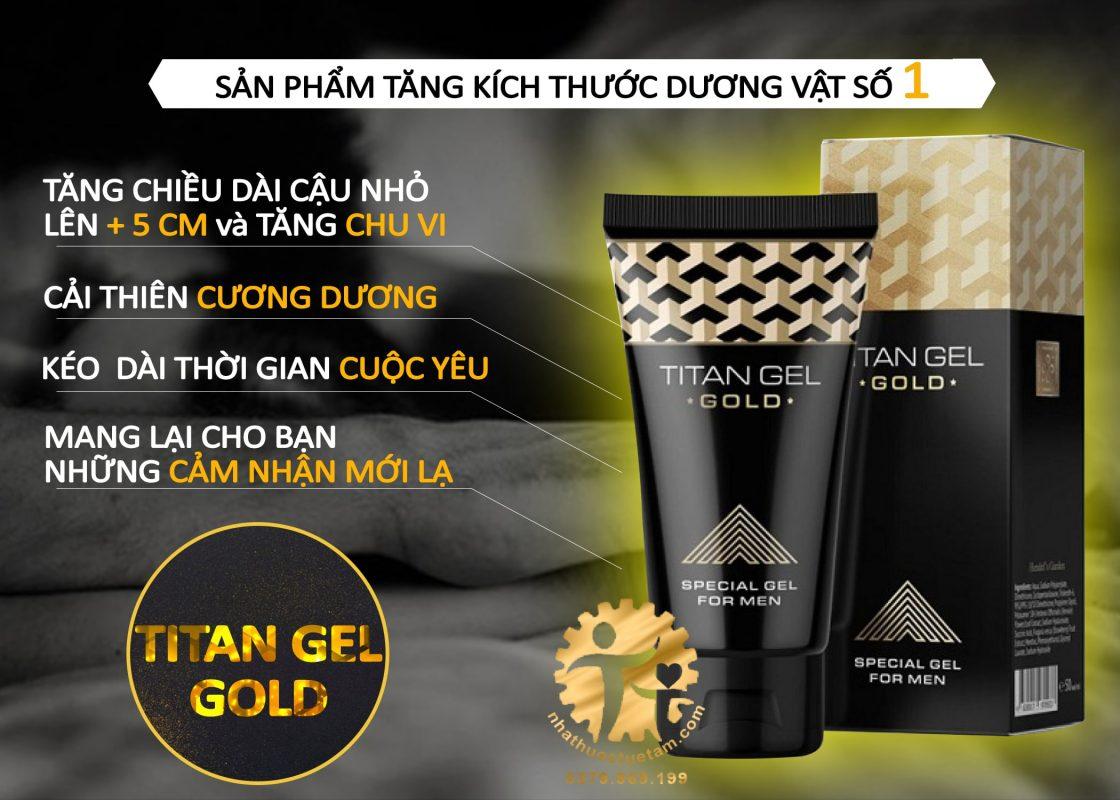 Gel Titan gold chính hãng